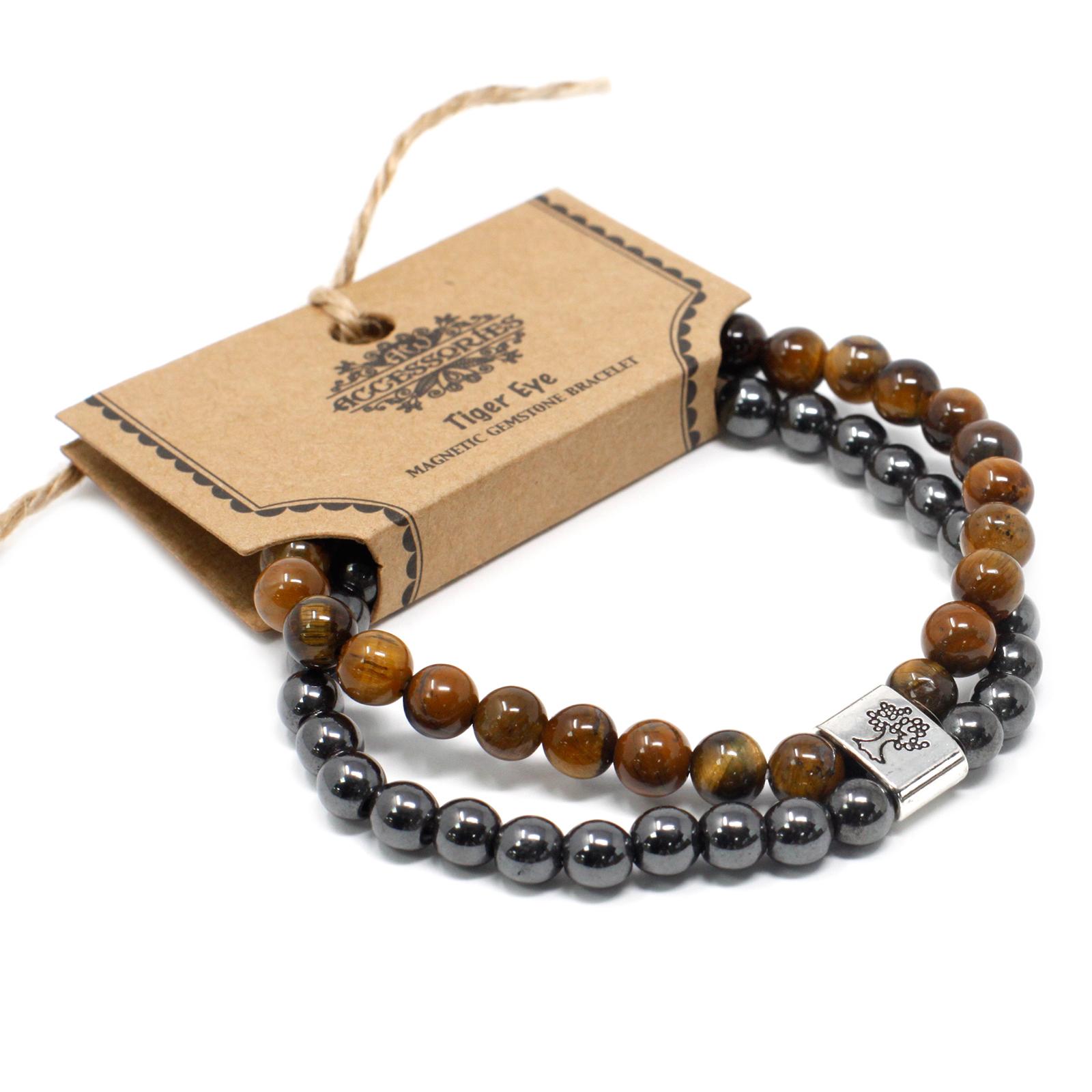 Magnetic Gemstone Bracelet Tiger Eye