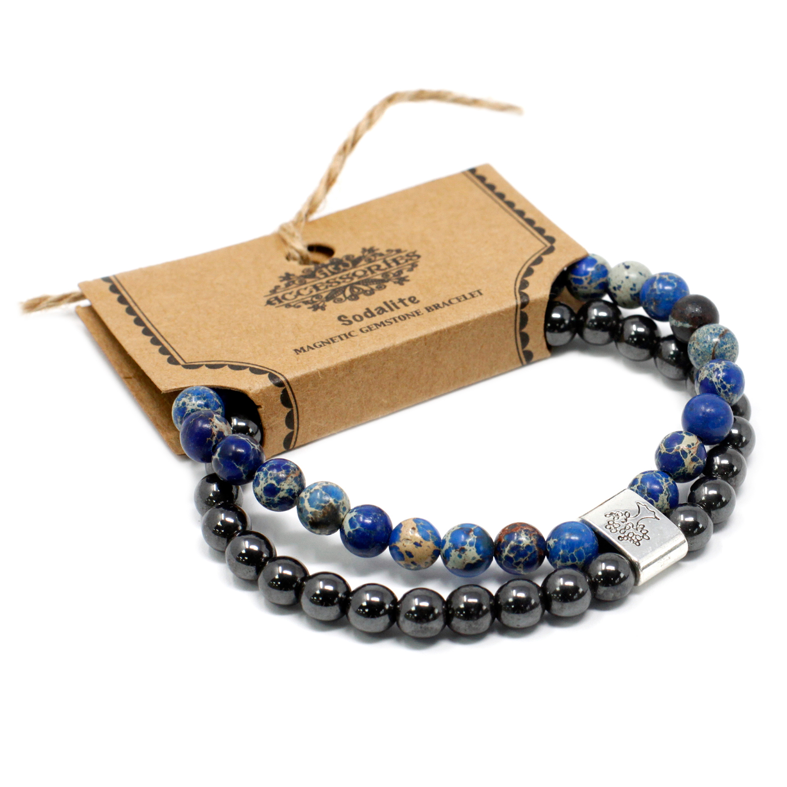 Magnetic Gemstone Bracelet Sodalite