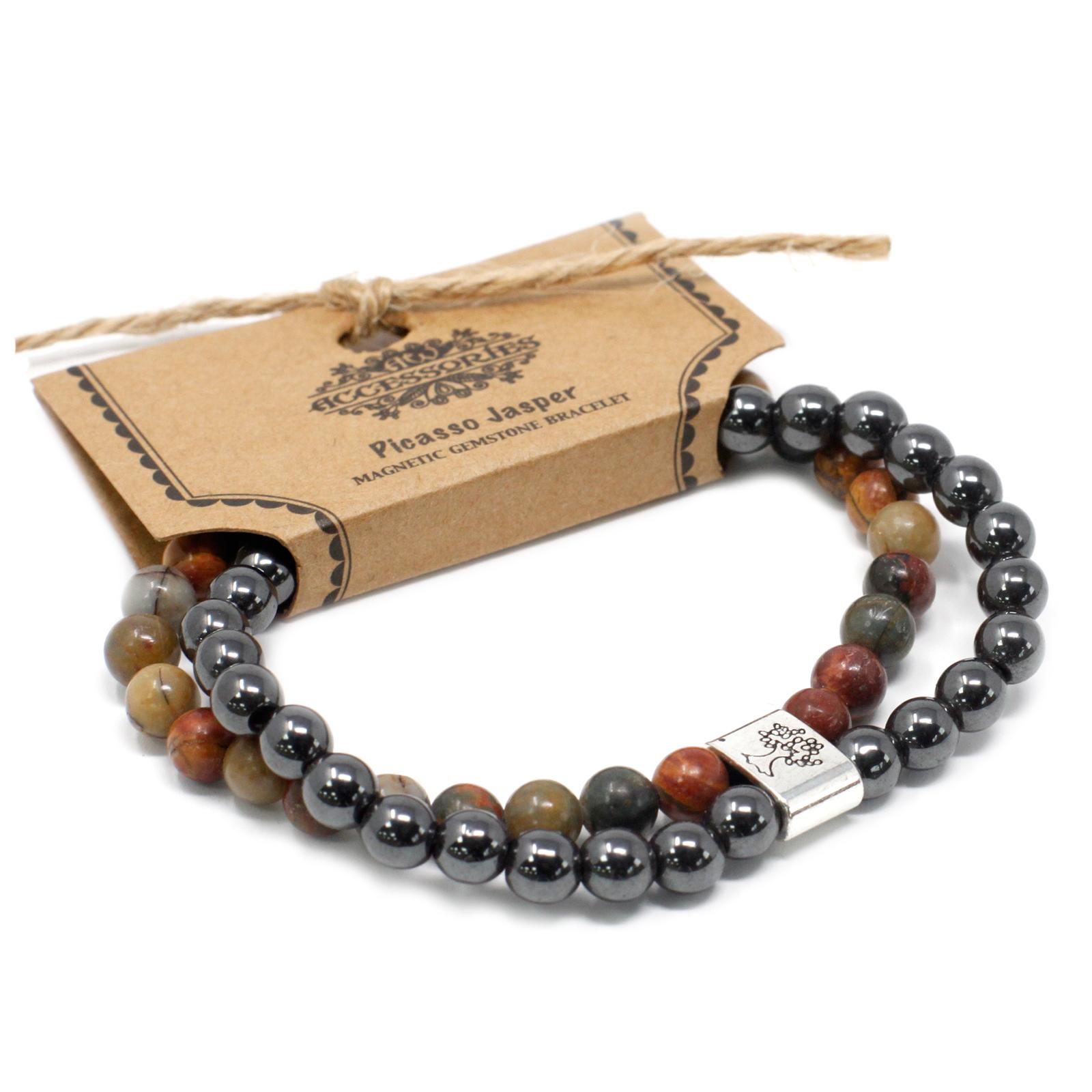 Magnetic Gemstone Bracelet Picasso Jasper
