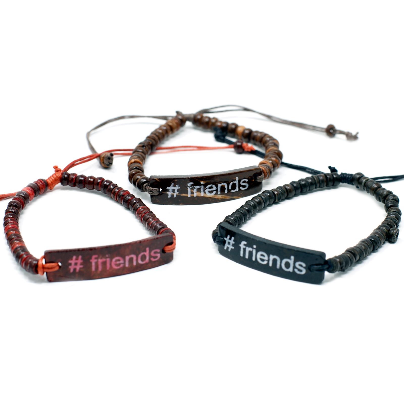 Coco Slogan Bracelets  Friends