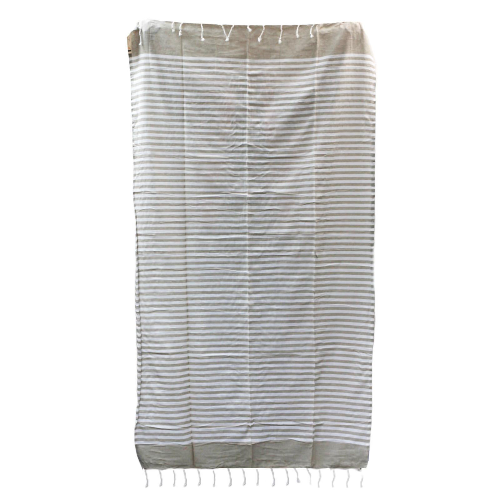 Cotton Pario Throw 100x180 cm Warm Sand