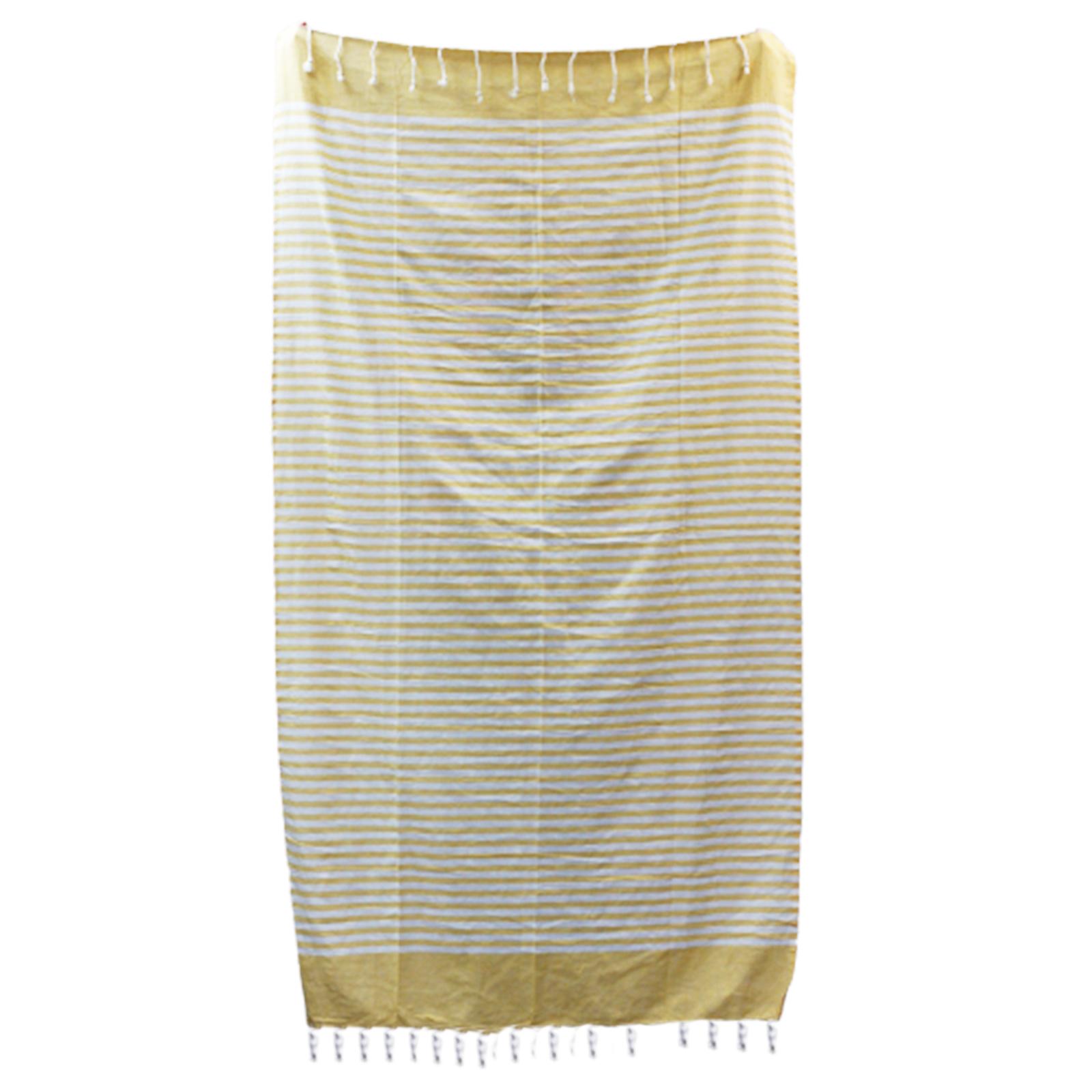 Cotton Pario Throw 100x180 cm Sunny Yellow