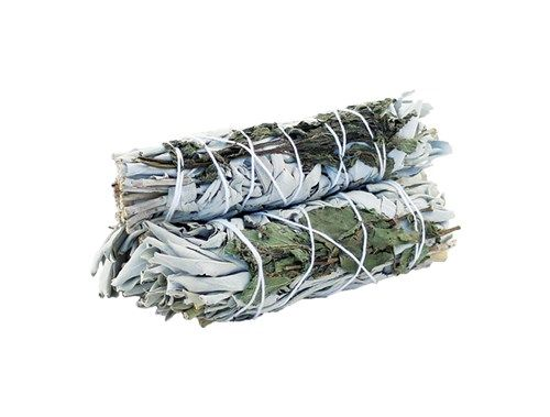 Smudge Stick White Sage   Peppermint 10cm