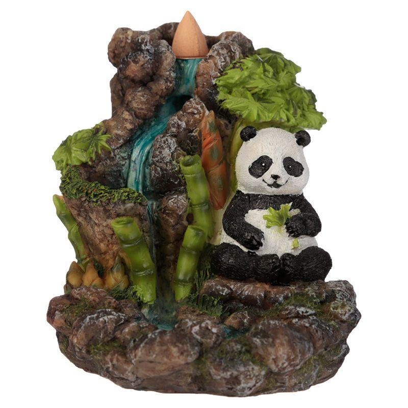 Bamboo Waterfall Panda Backflow Incense Burner
