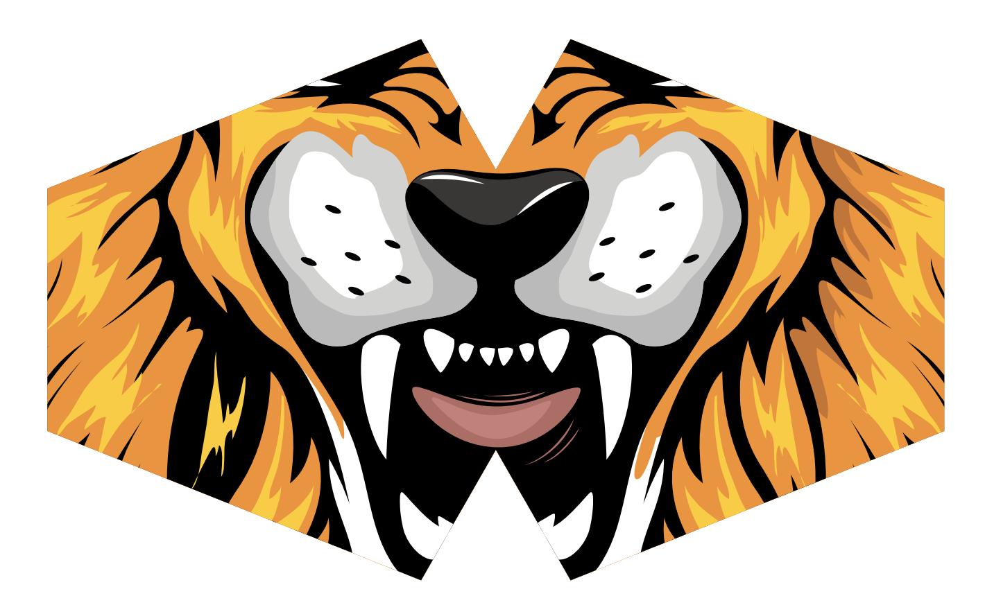 Reusable Fashion Face Mask Tiger Adult