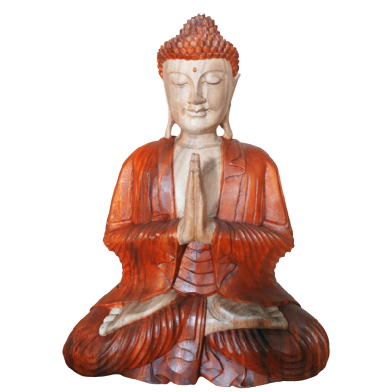 Hand Carved Buddha Statue 30cm Welcome