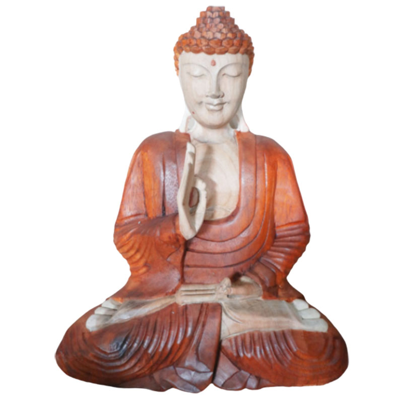 Hand Carved Buddha Statue 40cm Teaching Transmission
