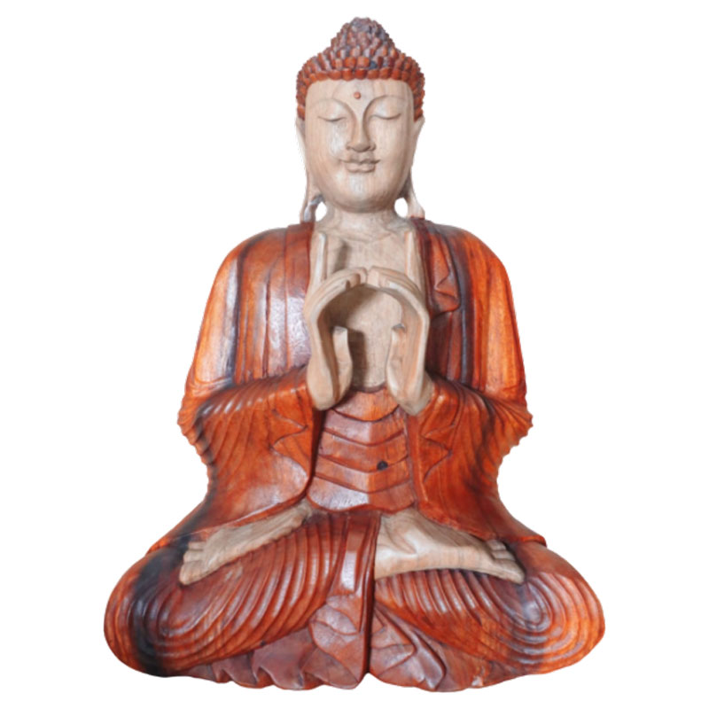 Hand Carved Buddha Statue 60cm Two Hands