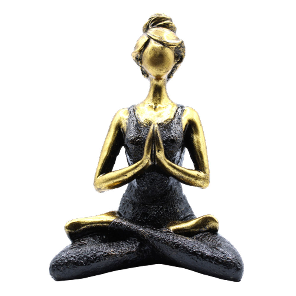 Yoga Lady Figure  Bronze   Black 24cm