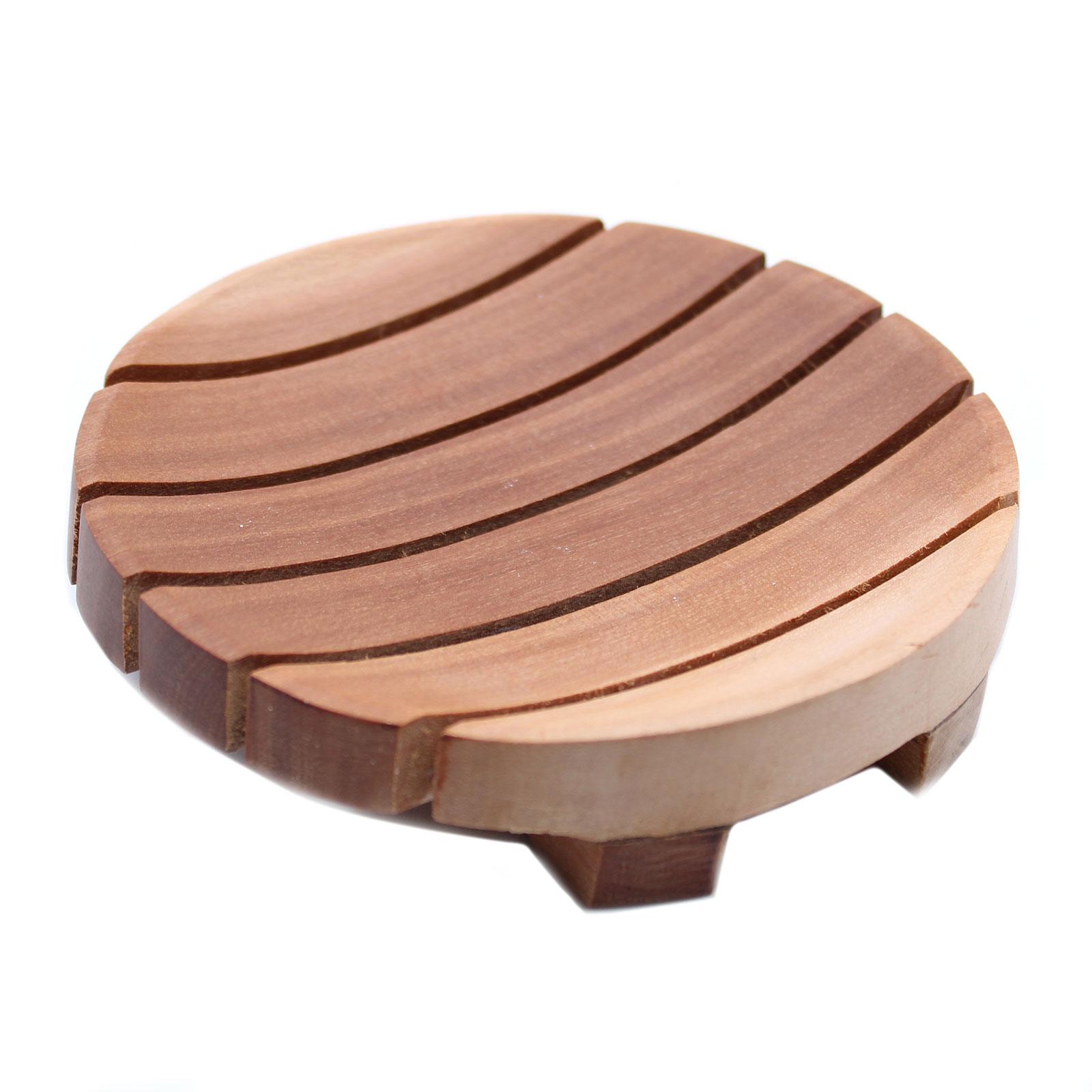 Classic Mahogany Soap Dish Round