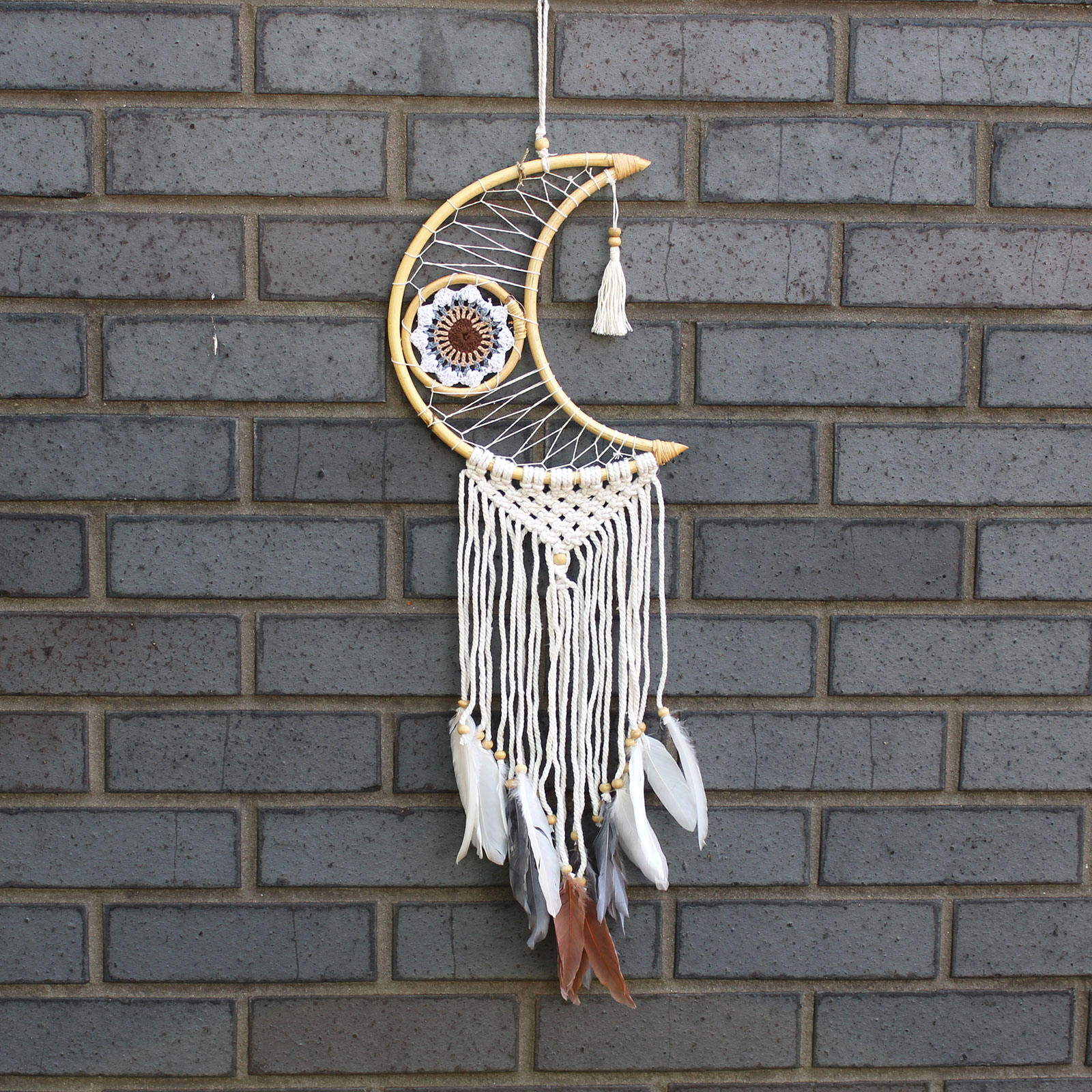 Protection Dream Catcher Macrame Moon