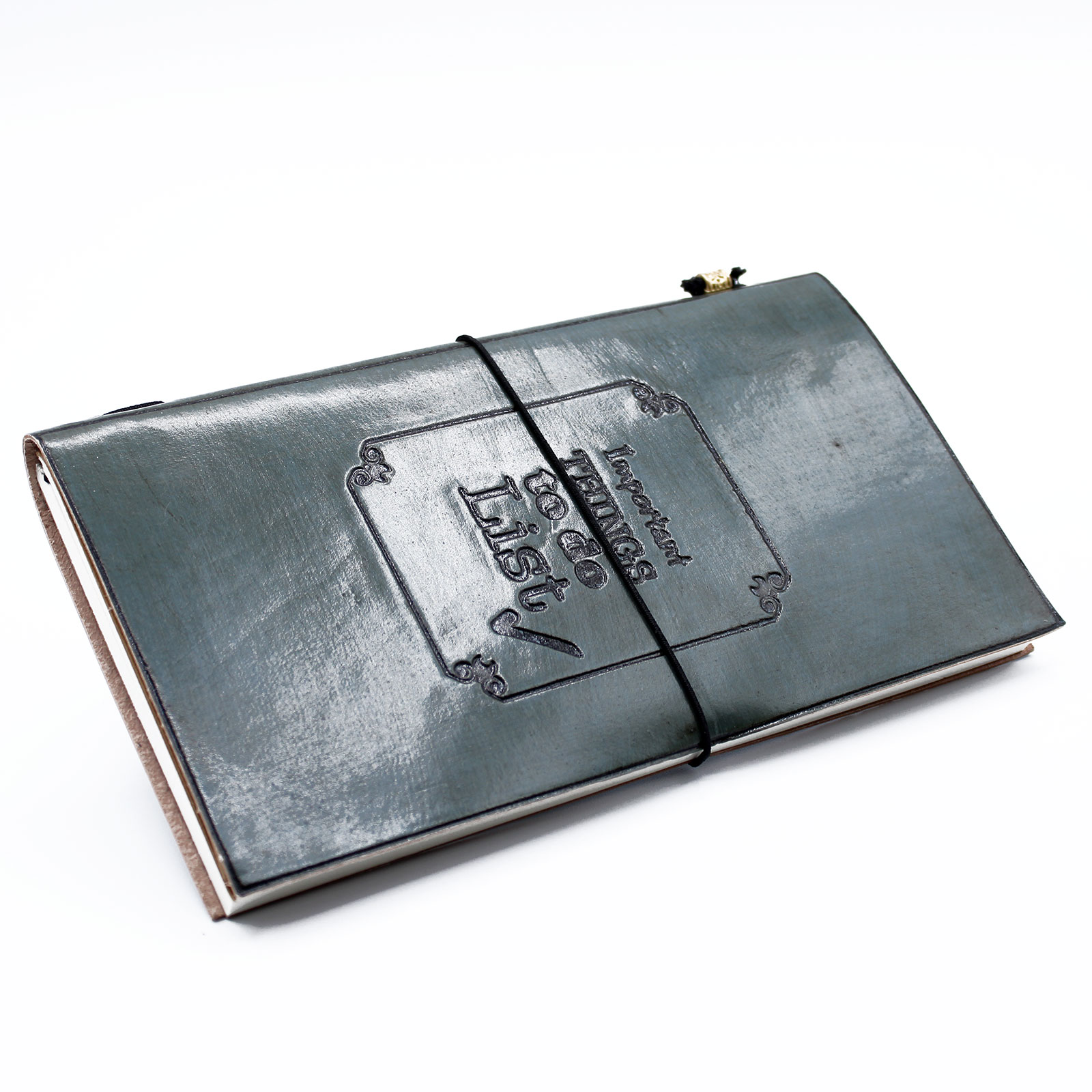 Handmade Leather Journal Important Things To Do Grey 80 pages