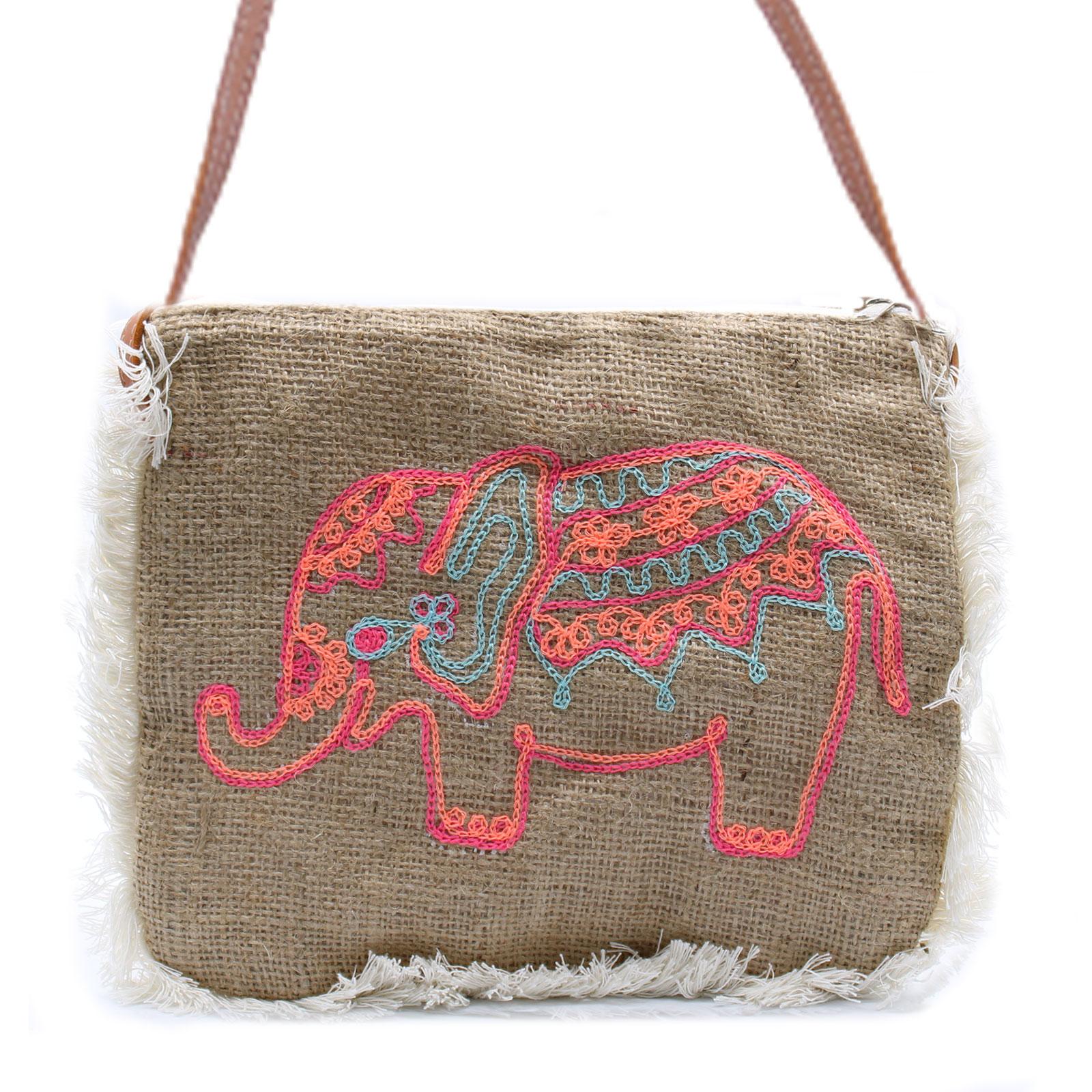 Fab Fringe Bag Elephant Embroidery