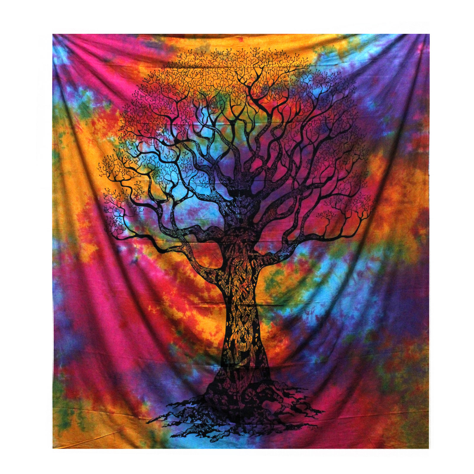 Double Cotton Bedspread Wall Hanging Winter Tree