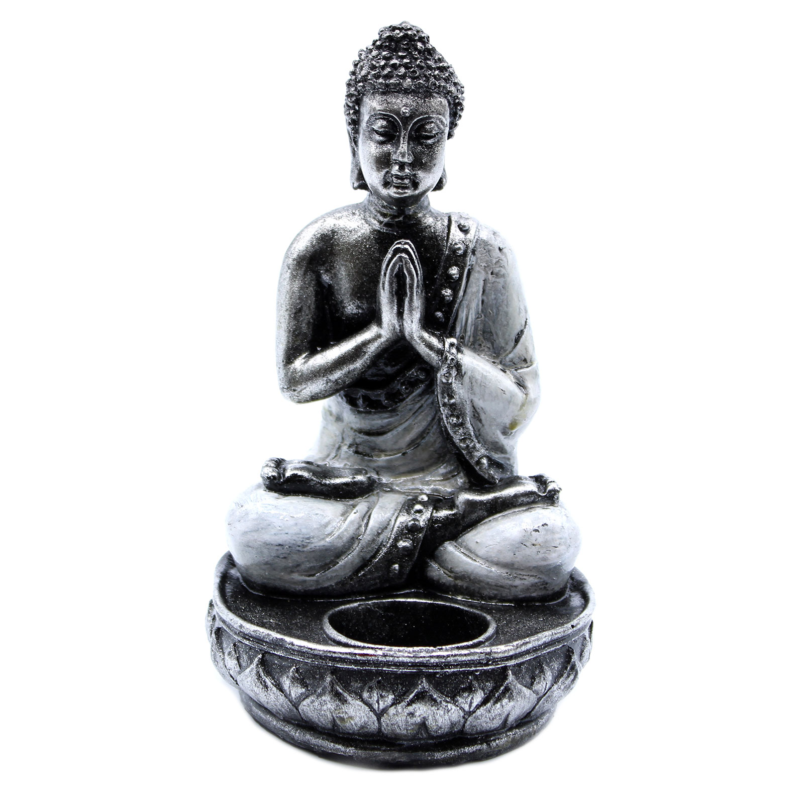 Buddha Candle Holder White Medium