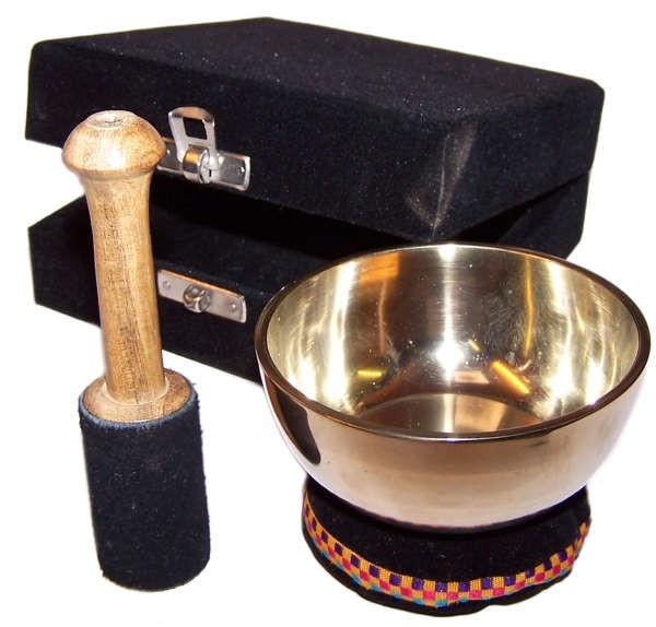 Brass Singing Bowl Gift Set 9cm