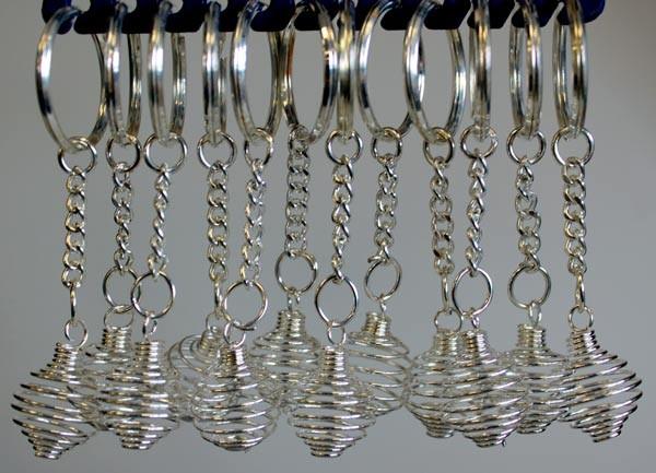 Spiral Cage Keyrings  pack of 12