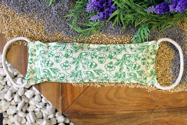 Natural Cotton Wheat Bags Green