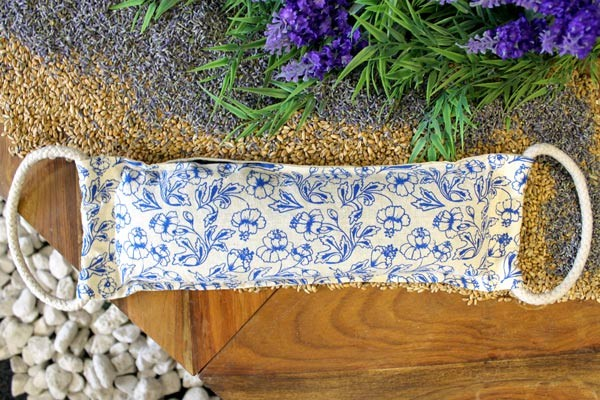 Natural Cotton Wheat Bags Blue