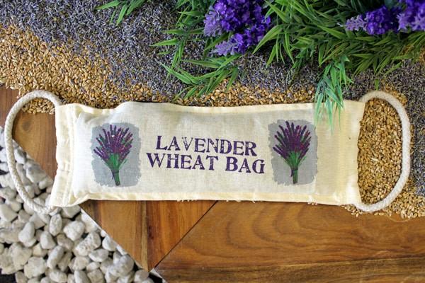 Natural Cotton Wheat Bags Lavender