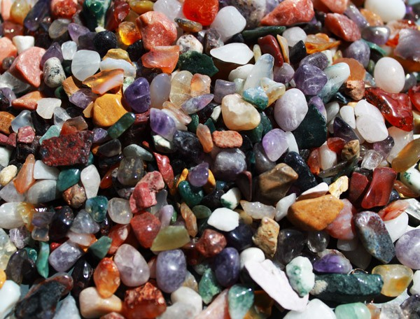 Mixed Natural Gemstone Chips 1KG