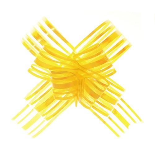 Organza Pull Bows Yellow pkt 10