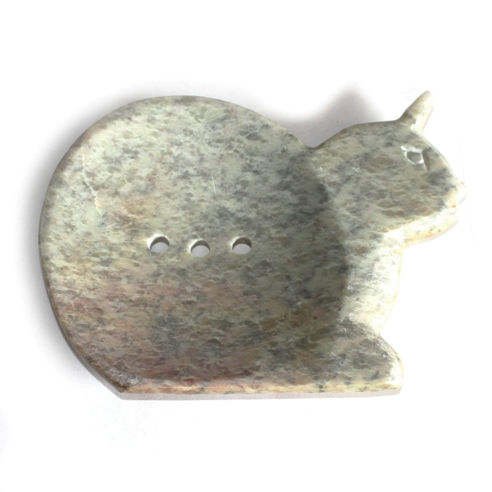 Large Soapstone Dish Cat