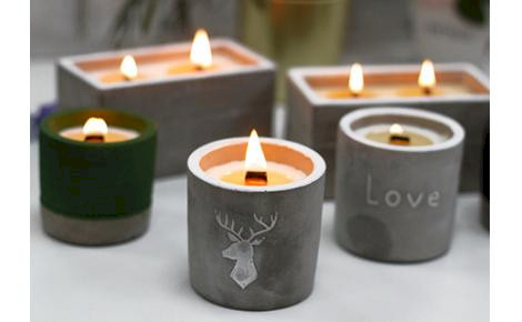 Concrete Wooden Wick Candles - Ancient Wisdom Dropshipping