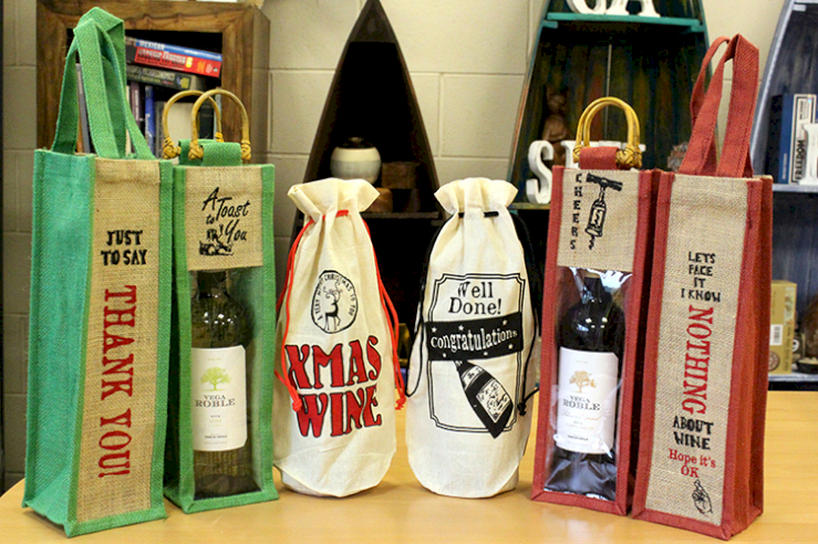 Natural Jute and Cotton Wine Bags - Ancient Wisdom Dropshipping