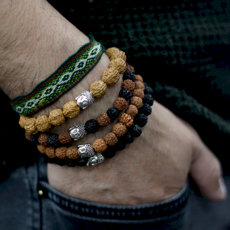 Multi-Bead Bangle and Buddha Bracelets