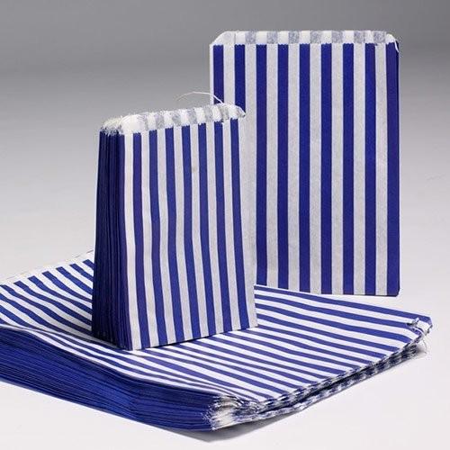 7X9 Candy Stripe Bags 1000 BLUE