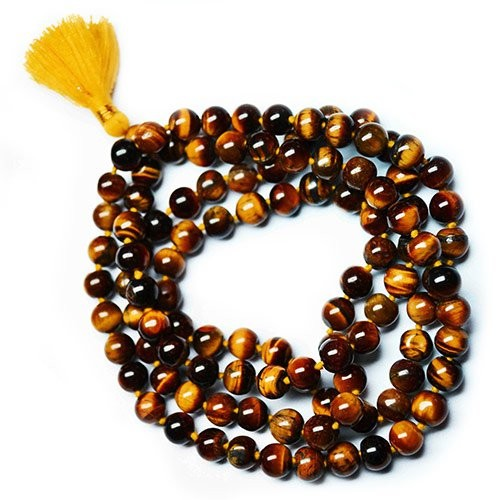 108 Bead Mala Tiger Eye