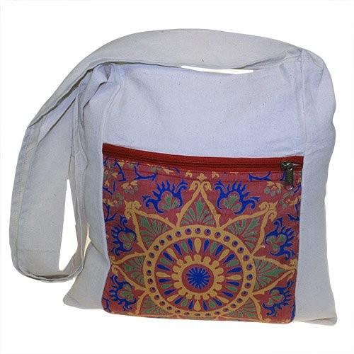 Sling Bag Red Alpana Silk Asst