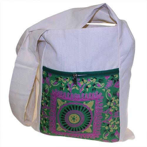Sling Bag Green Alpana Silk Asst