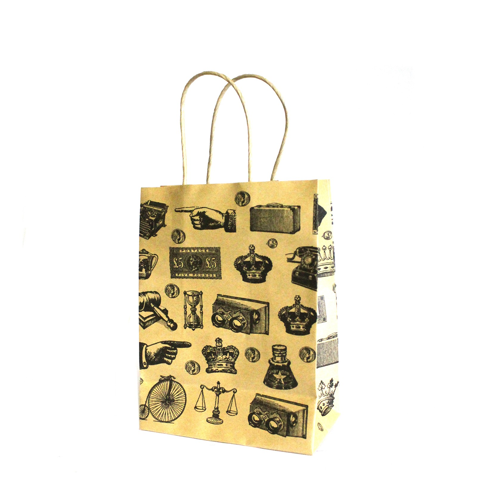 Med Antique Gift Bags 15x20x8cm