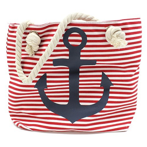Rope Handle Bag Blue Anchor