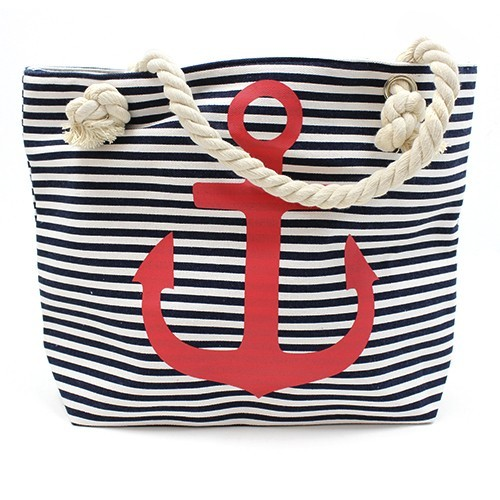 Rope Handle Bag Red Anchor