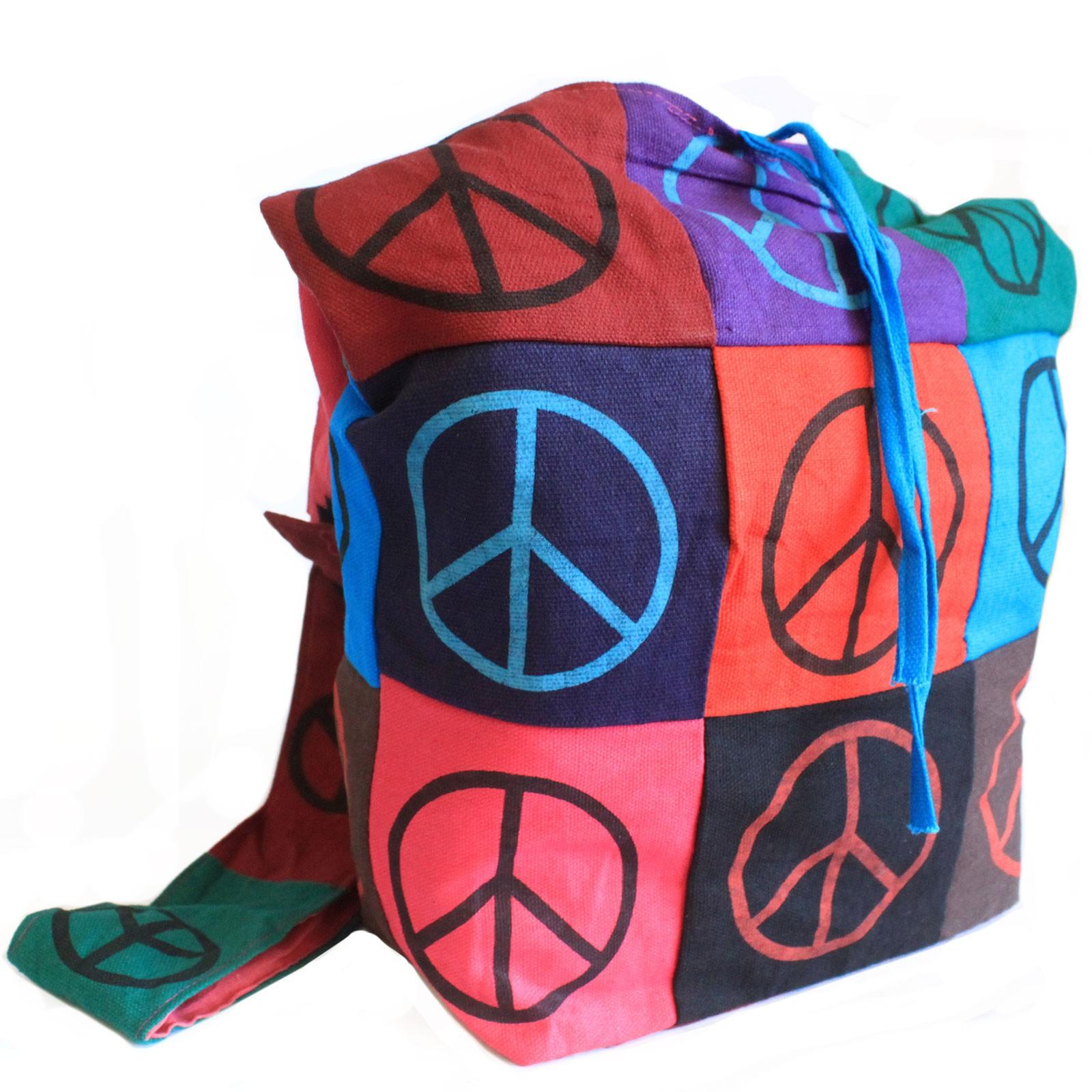 Cotton Patch Sling Bags Peace