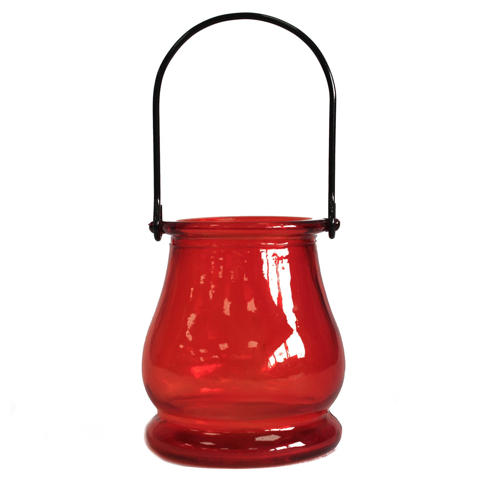 Recycled Candle Lantern Ruby
