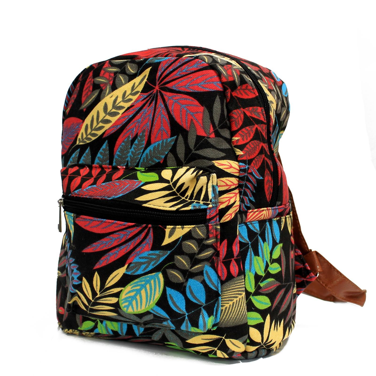 Jungle Bag Undersized Backpack Black  Orange