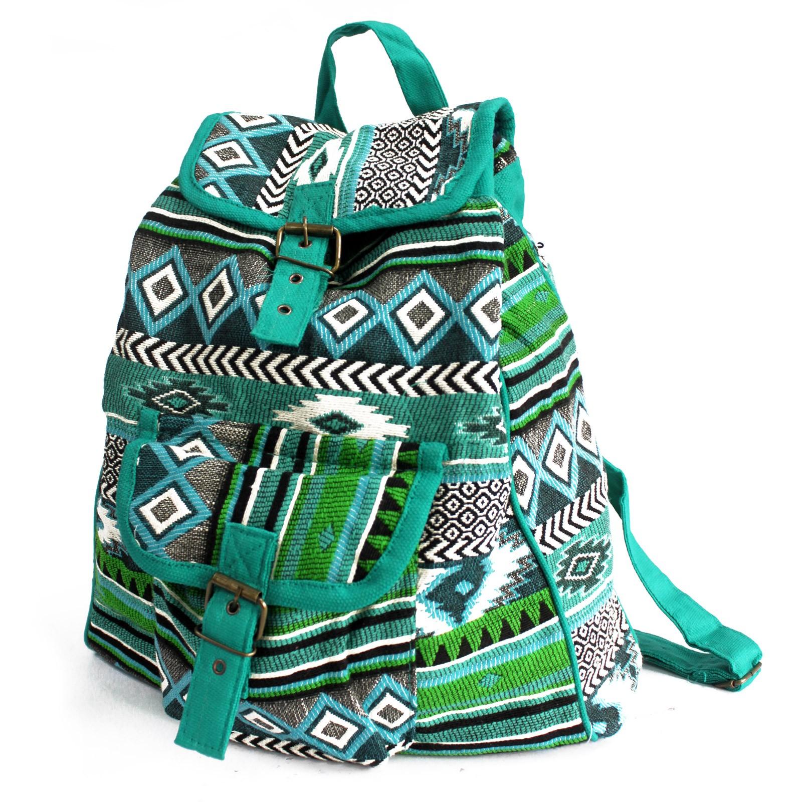 Jacquard Bag Teal Backpack