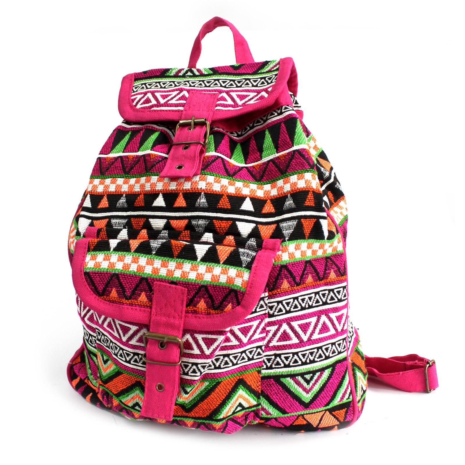 Jacquard Bag Pink Backpack