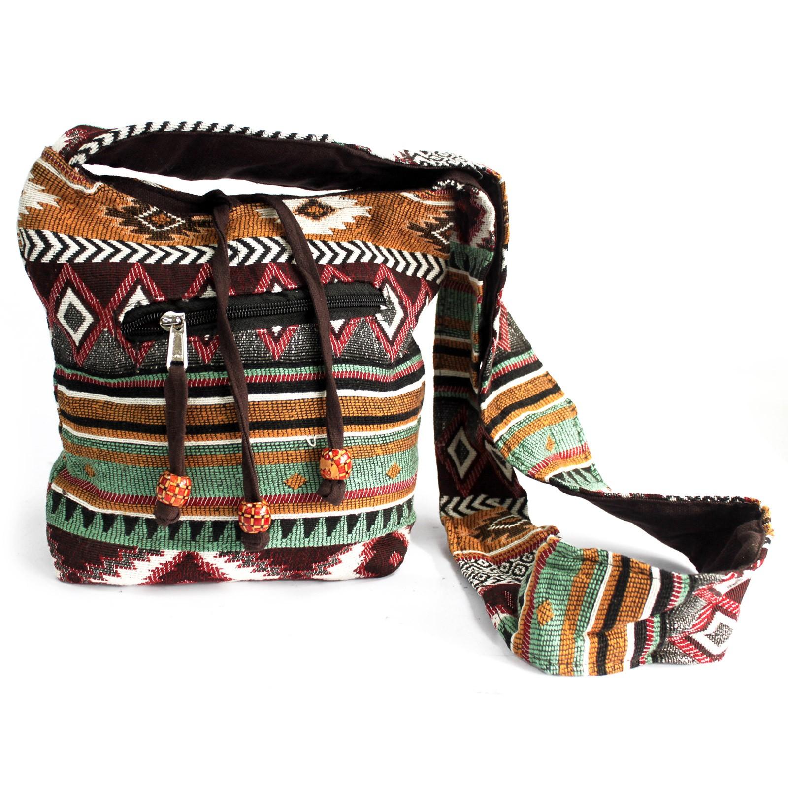 Jacquard Bag Chocolate Sling Bag