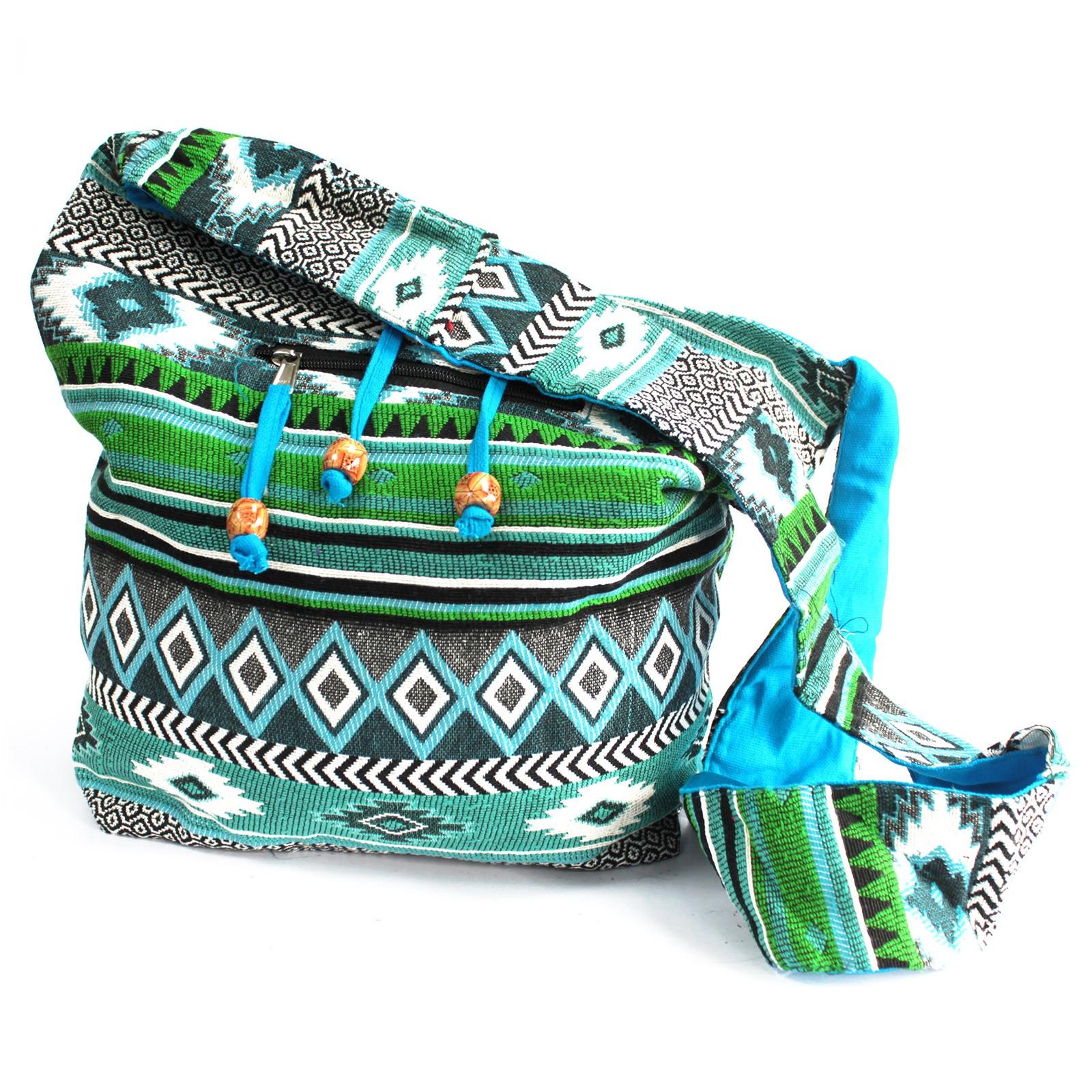 Jacquard Bag Teal Student Bag
