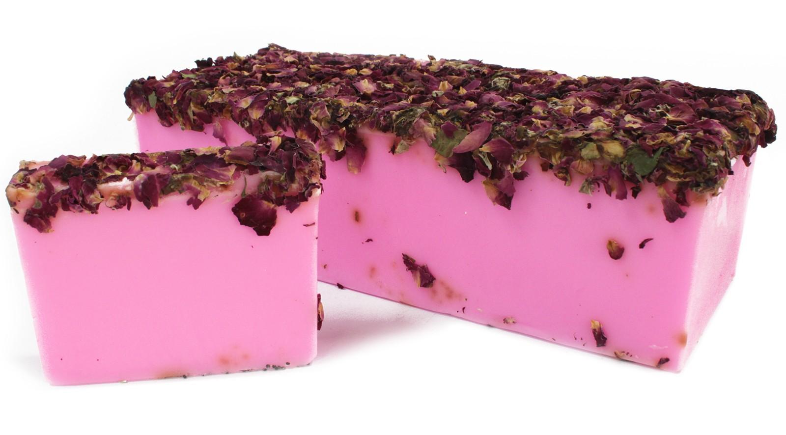 Rose and Rose Petals Soap Loaf