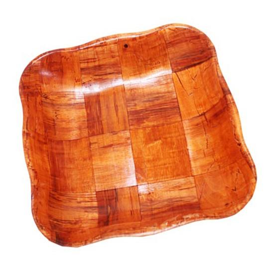 Med Cottonwood Wavy Sq Baskets 20cm