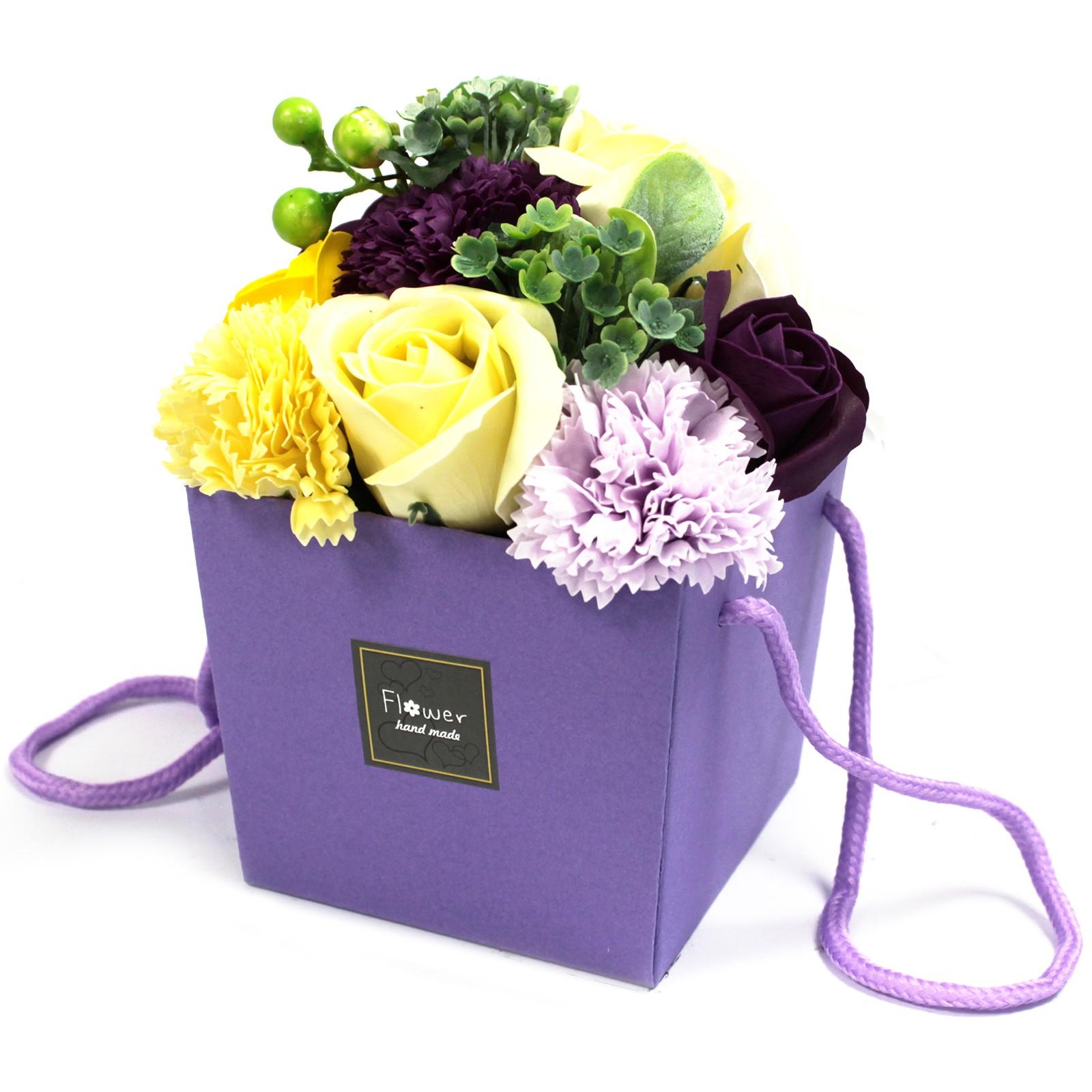 Soap Flower Bouquet Purple Flower Garden
