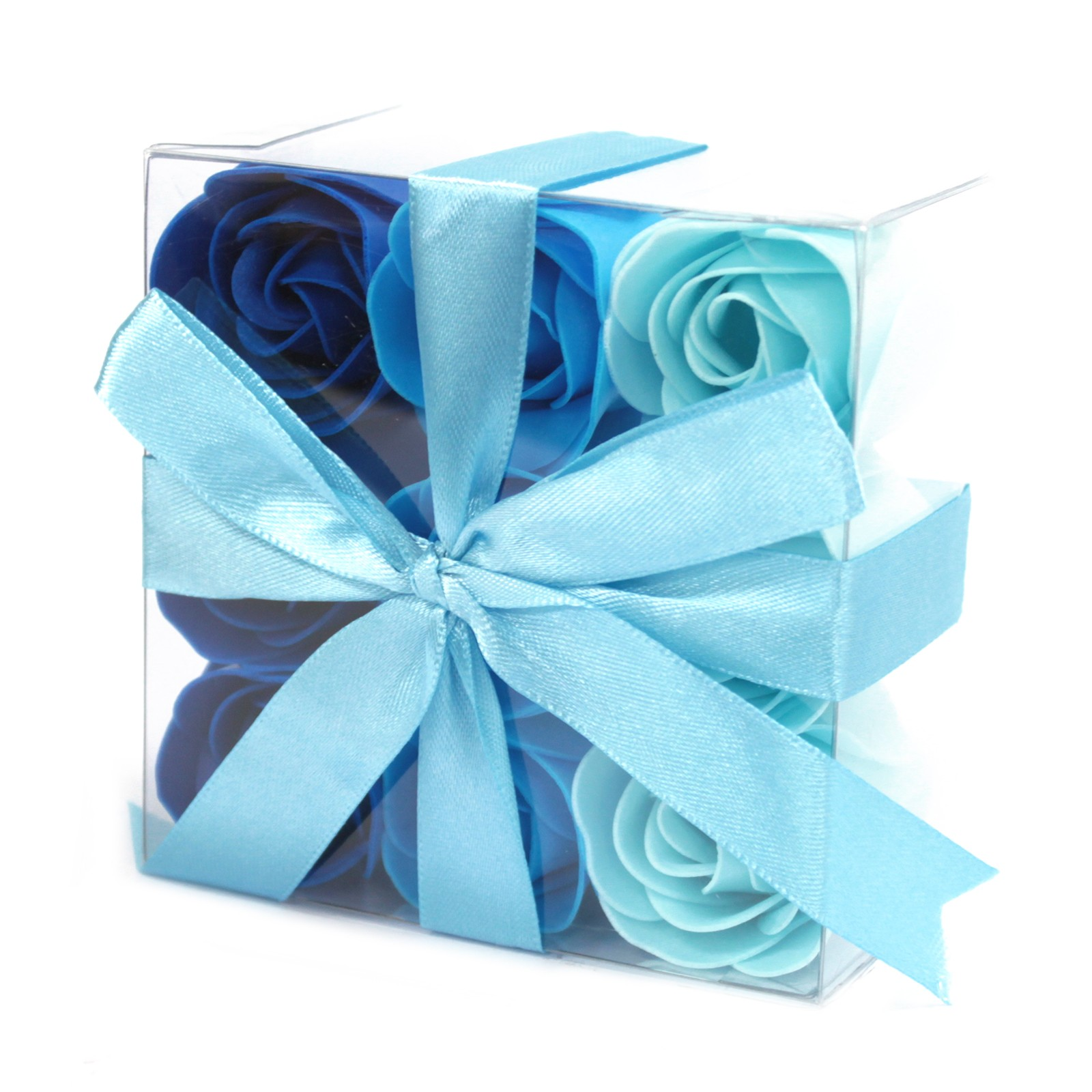 Set of 9 Soap Flowers Blue Wedding Roses