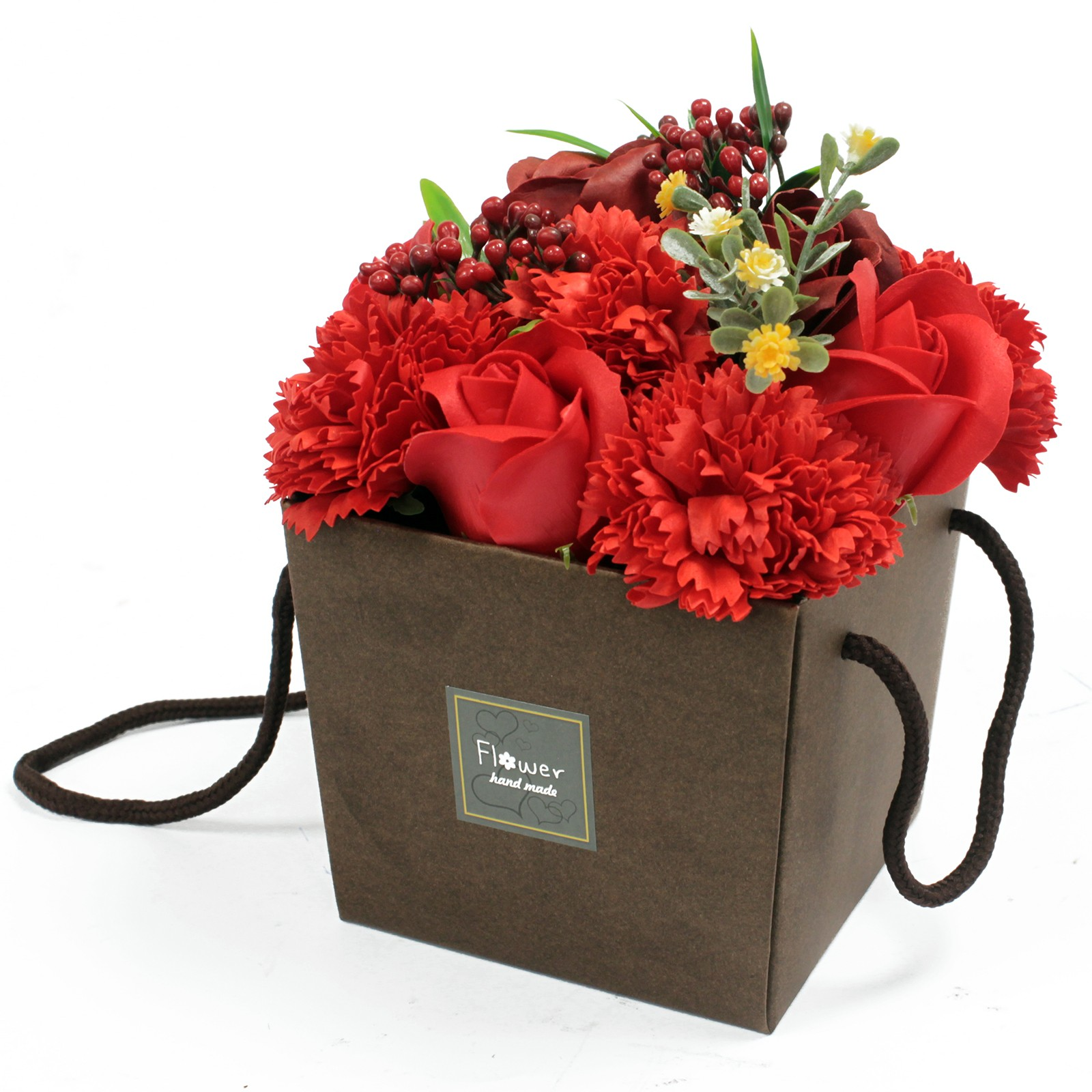 Soap Flower Bouquet Red Rose and Carnation