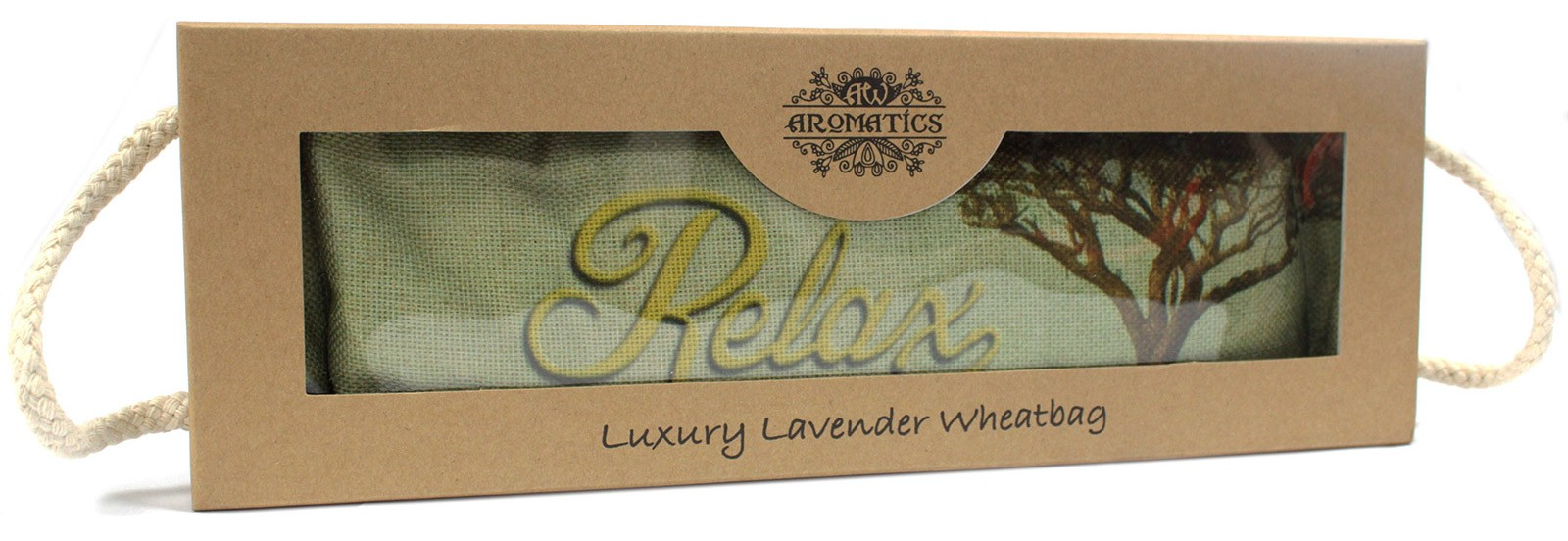 Luxury Lavender Wheat Bag in Gift Box Cornfield RELAX